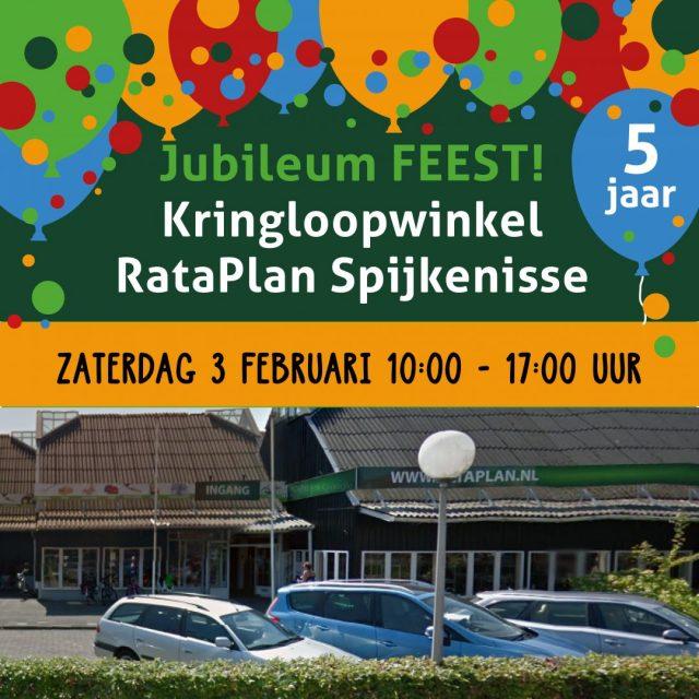 Kringloopwinkel RataPlan Spijkenisse viert feest vanwege het 5-jarig jubileum