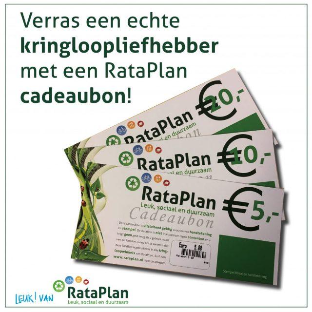 Het perfecte cadeau voor een kringloopliefhebber – RataPlan cadeaubon