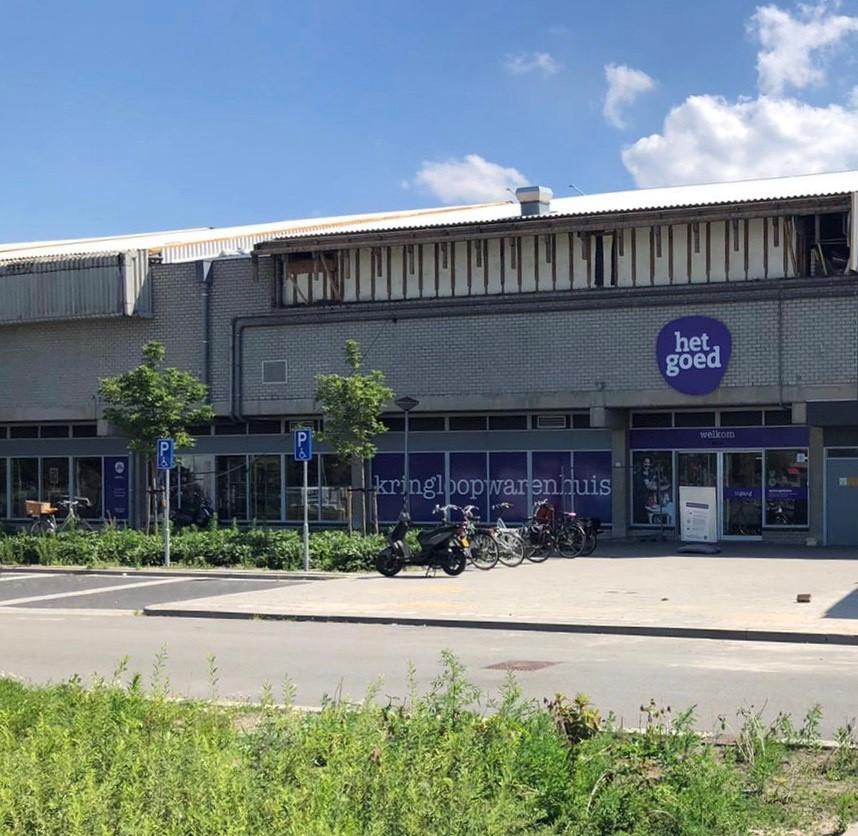 De kringloopwinkel aan De Meent in Lelystad welke RataPlan per september overneemt van Het Goed.